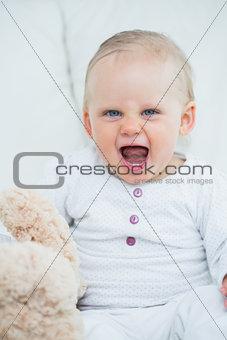 baby shrieking