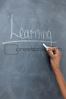 Close up of the blackboard