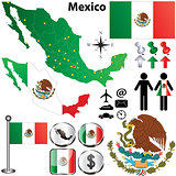 Mexico map with regions