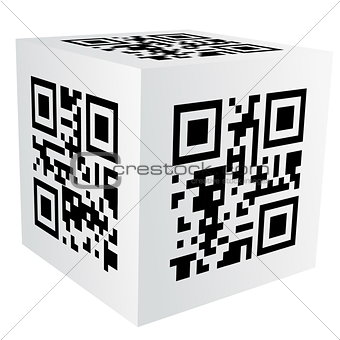 cube with qr code