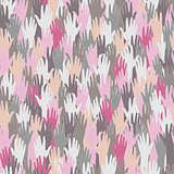 Seamless pattern with hands