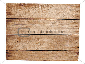 old wooden plate isolated on white