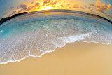 sea or ocean beach sunset