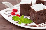 sweet brownies or chocolate cakes