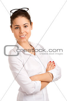Portrait of a pretty young businesswoman