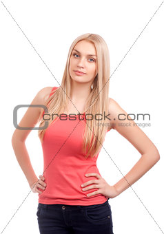 Portrait of blond teenage