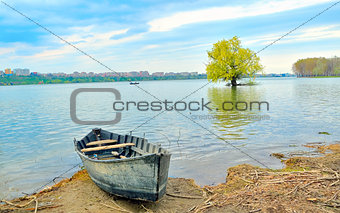 boat on shore of danube