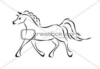 Vector horse sign