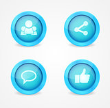 Set of glossy internet social icons