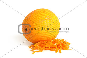 Orange with rind