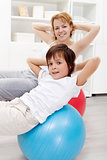 Healthy life - exercising at home