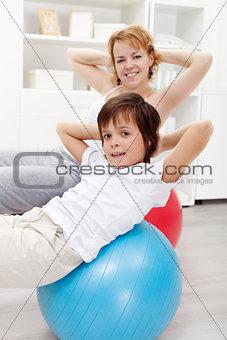 Healthy life - exercising at home