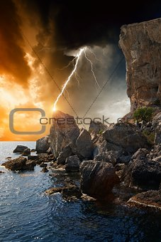 Dramatic nature background