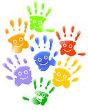 Many child hands