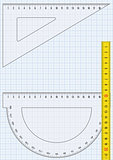 Graph paper and rulers