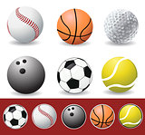 Vector sport balls 