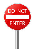 Do Not Enter warning sign 