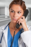 Female Doctor on the Phone