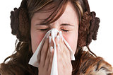Sick Woman Sneezing