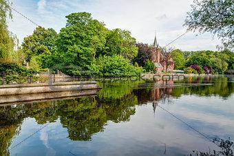 Castle in park