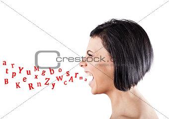 Girl shouts