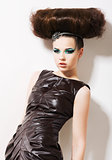 Futuristic Woman. Fantasy & Independence. Fancy Professional Coiffure