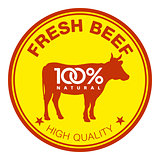 Fresh beef label