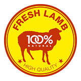 Fresh lamb label