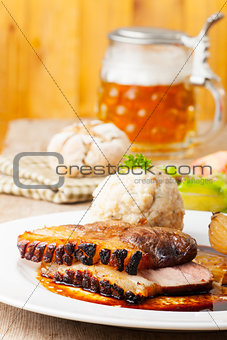 bavarian roast pork dish