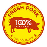 Fresh pork label