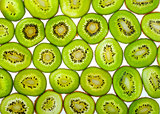 Abstract photo of a green kiwi fruit