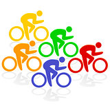 cycling colorful