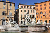 Fountain of Neptune (Poseidon) at Piazza Navona in Rome