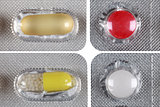 Blister package with colorful pills