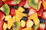 Top view of a fruit salad