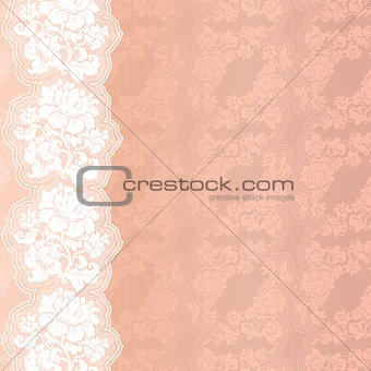 Flower pink on background