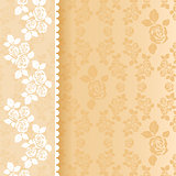 Lace beige square