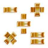 Letter metal gold ribbon Mathematical signs