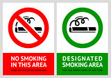 No smoking and Smoking area labels - Set 11