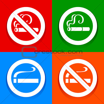 No smoking area - Stickers