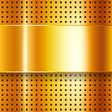 Scratched, on gold chrome background