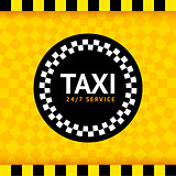 Taxi round symbol