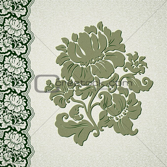 flower and border vintage lace