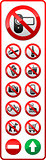 Set - Prohibited symbols