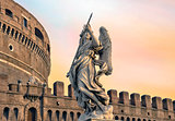 Angel on guard of Rome