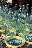 large glass bottles for bottling olive oil