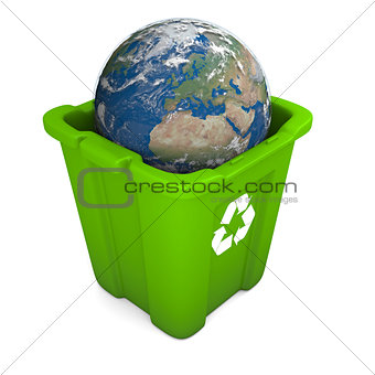 Earth in recycle bin