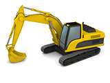 Modern excavator illustration