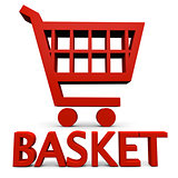 Red basket sign