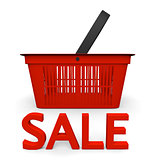 Sale with shopping basket